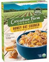 Cascadian Farm 12 pack case, Cereal, Honey Nut O`s, Organic 9.5 oz