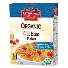 Arrowhead Mills 12 pack case, Cereal, Oat Bran Organic Flake, 12 oz