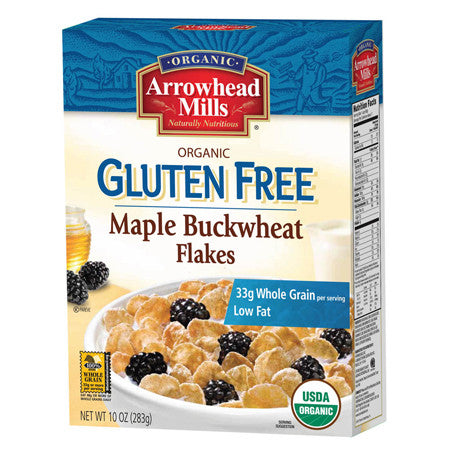 Arrowhead Mills 6 pack case, Maple Buckwheat Flakes, Organic 10 oz