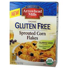 Arrowhead Mills 6 pack case, Corn Flakes Cereal Gluten Free, Organic 10 oz