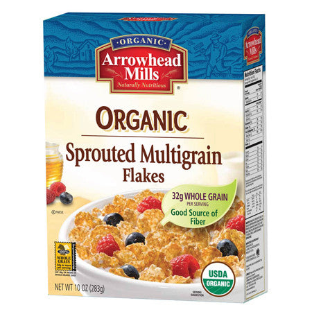 Arrowhead Mills 12 pack case, Cereal, Sprouted Multigrain Flakes, Organic, 10 oz