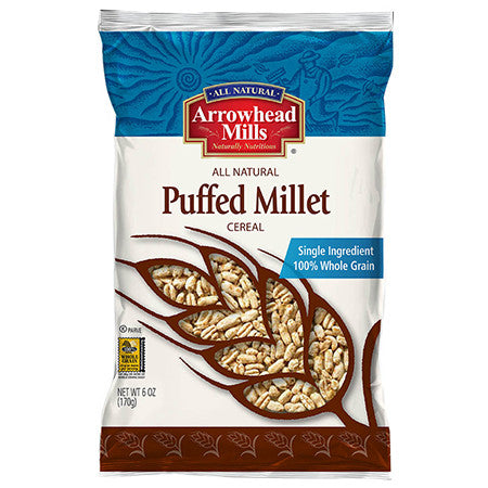 Arrowhead Mills 12 pack case, Cereal, Puffed Millet 6 oz