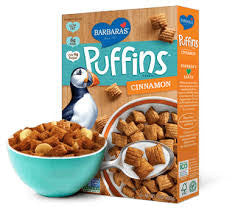 Barbara`s Bakery 12 pack case, Cereal, Puffins, Cinnamon, 10 oz