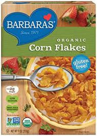 Barbara`s Bakery 6 pack case, Corn Flakes, Fruit Juice Sweetened, Organic, 9 oz