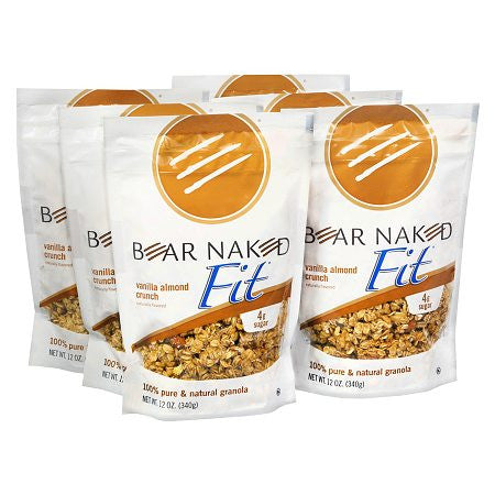 Bear Naked 6 pack case, Cereal, Vanilla Almond Crunch 12 oz