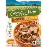 Cascadian Farm 10 pack case, Cereal, Cinnamon Crunch Organic 9.2 oz