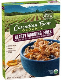 Cascadian Farm 10 pack case, Cereal, Hearty Morning, Organic 14.6 oz