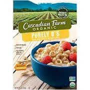 Cascadian Farm 12 pack case, Cereal, Purely O`s, Organic 8.6 oz
