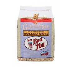 Bobs Red Mill 4 pack case, Cereal, Old Fashioned Rolled Oats, Gluten Free, 32 oz