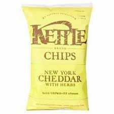 Chips Kettle 24 pack case Potato New York Cheddar w/Herbs 2 oz