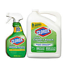 Clorox Clean Up Bleach Cleaner, 32 Oz. Spray Bottle and 180 Oz. Refill