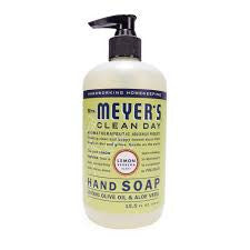 Mrs Meyers 6 pack case Clean Day , Hand Soap, Liquid, Lemon Verben 12.5 oz