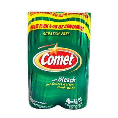 Comet Cleanser 4 Value Pack with Bleach 25 oz