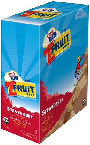 Clif Kid 18 pack case Twisted Fruit Organic Strawberry .7 oz