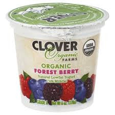 Clover Stornetta Farms 9 pack, Yogurt, Forest Berry, Organic 6 oz