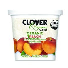 Clover Stornetta Farms 9 pack, Yogurt, Peach, Organic 6 oz