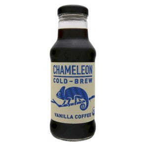 Chameleon 12 pack case, Coffee, Ready To Drink, Vanilla, Organic, 10 oz