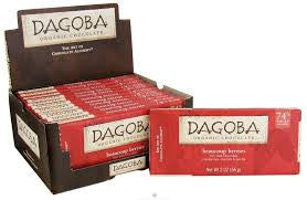 Dagoba 12 pack Bar Dark Chocolate Organic Beaucoup Berries 74% Cacao  2 oz