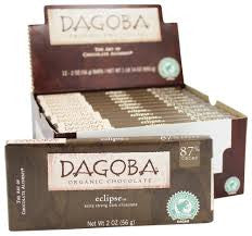Dagoba 12  Bars Dark Chocolate Eclipse 87% 2 oz