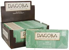 Dagoba 12 pack Bars Dark Chocolate Organic Mint, 59% 2 oz