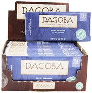 Dagoba 12 pack Bars 74% Dark Chocolate Organic New Moon Diary Free Gluten Free Wheat Free 2 oz