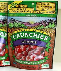 Crunchies Food Company 6 pack, Dried Fruit, Grapes, 1.2 oz