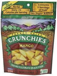 Crunchies Food Company 10 pack, Dried Fruit, Mango .35 oz