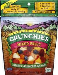 Crunchies Food Company 10 pack, Dried Fruit, Mixed Fruit .42 oz