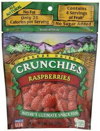 Crunchies Food Company 6 pack, Dried Fruit, Raspberry 1 oz