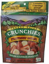 Crunchies Food Company 10 pack Dried Fruit, Strawberry Banana, .42 oz