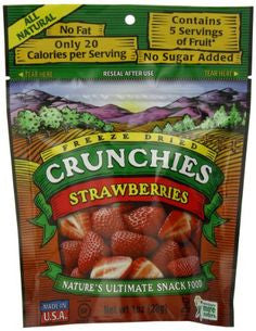 Crunchies Food Company 10 pack Dried Fruit, Strawberries .35 oz