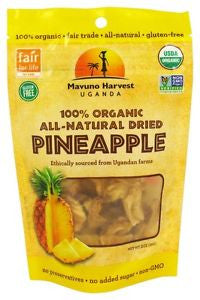 Mavuno Harvest 6 pack, Dried Fruit, Pineapple, Organic 2 oz