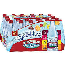 Arrowhead, 24 pack case, Sparkling Water Variety Pack, 16 oz