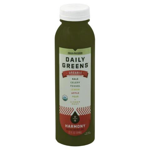 Daily Greens 6 pack, Juice, Harmony, 12 oz