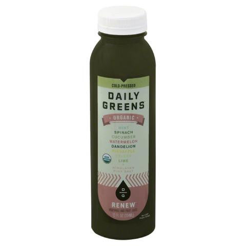 Daily Greens 6 pack, Juice, Renew 12 oz
