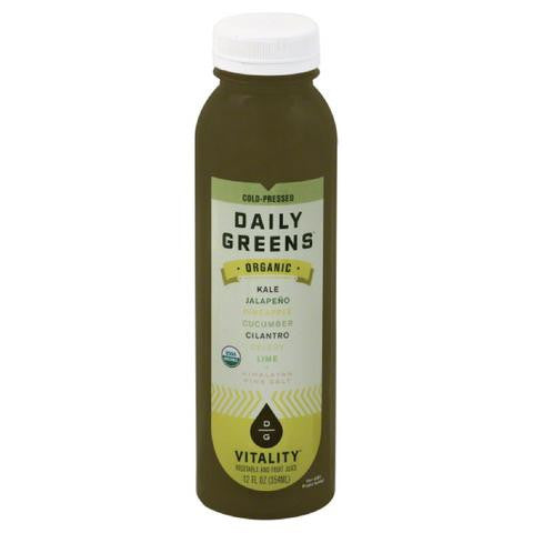 Daily Greens 6 pack, Juice, Vitality 12 oz
