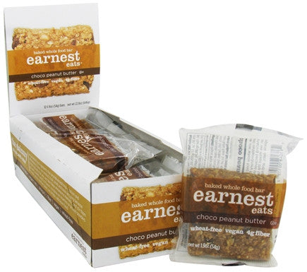 Earnest Eats 12 pack case Baked Chocolate Peanut Butter 1.9 oz