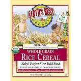 Earth`s Best 12 pack case, Cereal, Whole Grain Rice, Organic 8 oz