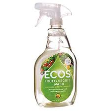 Ecos 6 pack, Fruits & Veggies Wash, Cleans Fresh Fruits, 22 oz