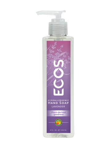 Ecos, Earth Friendly Products 6 pack, Hand Soap, Lavender, 8 oz
