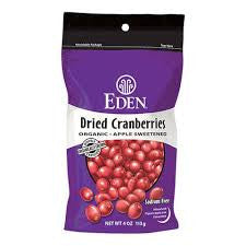 Eden Foods 15 pack case Fruit Dried Cranberries Organic 4 oz