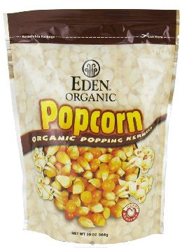 Eden Foods 12 pack case Popcorn Yellow Organic 20 oz