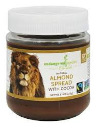 Endangered Species 6 pack case Chocolate Spread Almond With Cocoa 9.7 oz