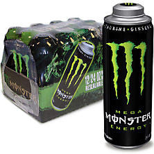 Mega Monster 12 pack case Energy Drink 24 oz