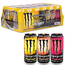 Monster 24 pack case Energy Rehab Variety Pack 15.5 oz