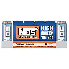 NOS HIgh 24 pack case Performance Energy Drink 16 oz