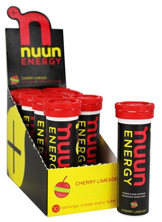 Nuun Active 8 pack Drink Tabs Energy Cherry Limeade 10 ea (80 tabs)