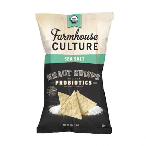 Farmhouse Culture 12 pack, Kraut Krisps, Sea Salt, Organic 5 oz