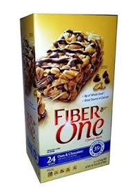 Fiber One 24 pack case Bar Chewy Oats & Chocolate 1.4 oz