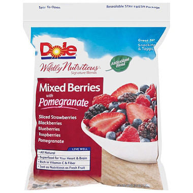 Dole 1 pack Mixed Berries w/Pomegranate 48 oz 3 lbs